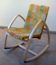 PPM_ryijy_elaa Rya Rug, Punch Needle, Rocking Chair, Fiber, Weaving, Textiles, Rugs, Furniture, Home Decor