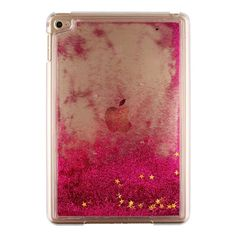 For Apple iPad Mini 4 Glitter Stars Bling Liquid Hard Plastic Clear Case  Cover For ipad Quicksand transparent Tablet Cases