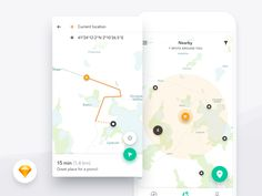 Harmony UI Kit - Map designed by Dawid Młynarz. Connect with them on Dribbble; the global community for designers and creative professionals. Web Design, App Ui Design, User Interface Design, App Map, Ui Design Mobile, Android Ui, Android Hacks, Ui Design Inspiration, Information Graphics
