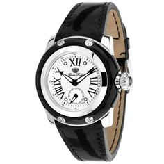 Glam Rock Womens GR40018 Palm Beach Collection Black Patent Leather Watch *** You can find more details by visiting the image link.