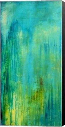 Blue Mountain Rain I Abstract Canvas Wall Art Print by Erin Ashley