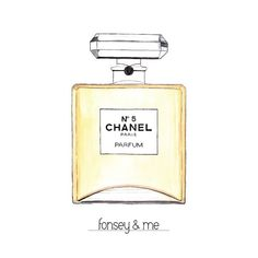 Chanel No.5 Perfume Art Print by Fonseyandme on Etsy