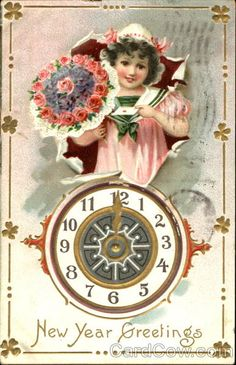 1908 new year greeting