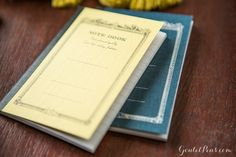 Apica CD notebooks in light yellow and navy