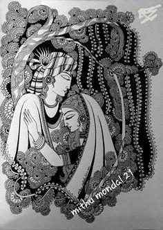 Dark Art Drawings, Art Drawings Sketches Simple, Pencil Drawings, Watercolor Landscape Paintings, Oil Paintings, Mandela Art, Pen Doodles, Ganesha Pictures, Doodle Art Designs