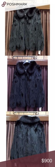 """Black Fox Fur Sections 32"""" Zip Baseball Jacket Black dyed Fox sections 32"""" Zip Baseball Jacket  Sleeve length (neckline to cuff): 38""""  Size 48-50  preowned  A.J. Ugent Furs  All preowned coats have been professionally stored, cleaned, glazed, and conditioned by a furrier.  Please visit our site for addition men's products. A.J. Ugent Furs Jackets & Coats"""