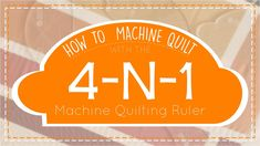 How to Machine Quilt with the 4 N 1 Machine Quilting Ruler - YouTube Quilting Rulers, Quilting Tips, Quilting Tutorials, Machine Quilting Tutorial, Quilts, Youtube, Sewing, Videos, Dressmaking