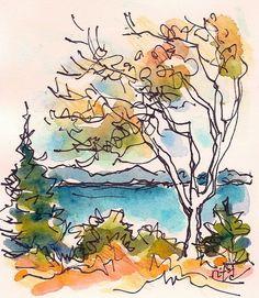 Sketchbook Wandering: October 2014 #watercolorarts