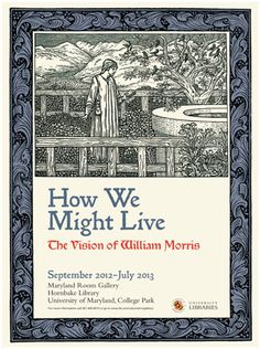 William Morris Exhibit Poster
