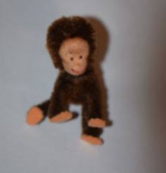 Antique Doll Toy Miniature Monkey Schuco Jointed Tiny Dollhouse
