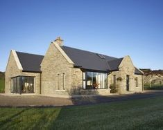 Traditional exterior belying a modern interior - Cygnum Timber Frame Bungalow Haus Design, Modern Bungalow House, Rural House, Cottage Extension, House Extension Design, Style At Home, Dormer House, Dormer Bungalow, House Designs Ireland