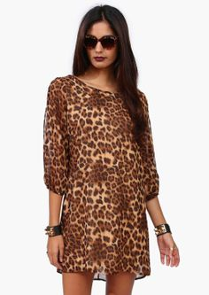 Cute cheetah printed dress...would really rock for the prego Moms too