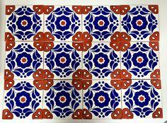 Mexikanische Fliese 15x15 - Dekor: Hacienda handmade mexican tile  Mexambiente Fliesen #rustikal #kacheln #landhaus #mediterran