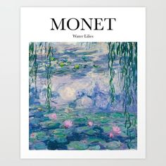 Monet - Water Lilies Art Print by artilyshop Photo Wall Collage, Collage Art, Poster Wall, Poster Prints, Art Print, Monet Water Lilies, Art Exhibition Posters, Photo Deco, Kunst Poster