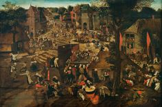 Artist	 Pieter Brueghel the Younger (1564–1638)    Details of artist on Google Art Project Title	A Village Fair (Village festival in Honour of Saint Hubert and Saint Anthony) Object type	Painting Date	(1564 - 1638)