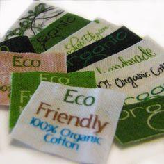 Organic Custom Fabric Labels Sew On. $20,00, via Etsy.