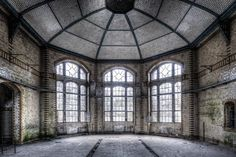 Photo about The old hospital complex for lung diseases in Beelitz near Berlin which is abandoned since Image of occupation, house, architecture - 12773060 Newport, Portal, Rebel, Old Hospital, Villa, Church Design, Industrial Interiors, Round House, Amazing Architecture