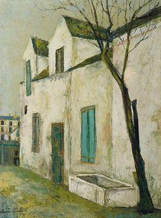 utrillo paintings | Maurice Utrillo - La ferme Debray (circa 1914) - oil on canvas ...