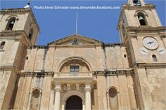 "John's Co-Cathedral, It is called ""co-cathedral"" because the original is in Medina Malta & they have equal status. It was bulit for the Templar Knights in the century. To see more pictures of Malta, please visit our Malata Board. Famous Landmarks, Knights Templar, Caribbean Cruise, Vacation Packages, Cruise Vacation, St John's, 16th Century, Cathedral"