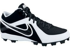 Men's Nike MVP Keystone 3/4 Molded Baseball Cleat Black/Black/White Nike. $43.99