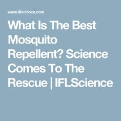 What Is The Best Mosquito Repellent? Science Comes To The Rescue | IFLScience