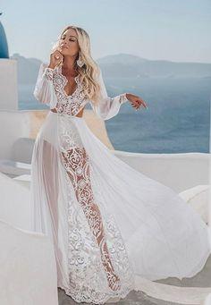 Luxury Wedding Dress, Boho Wedding Dress, Dream Wedding Dresses, Vestidos Boutique, Boutique Dresses, White Halter Dress, Boho Fashion, Fashion Outfits, Custom Dresses