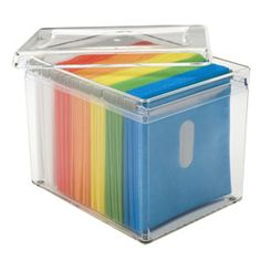 The Container Store > 120-Disc Acrylic Storage Box. Want! (3.5 Hawaiian Air miles per dollar spent, too!)