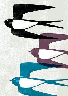 illustrations and art Vogel Illustration, Art Graphique, Illustrations, Grafik Design, Gravure, Bird Art, Beautiful Birds, Birds In Flight, Printmaking
