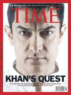 Aamir Khan Becomes First Male Indian Actor Featured on cover of Time Magazine