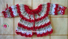 Crochet et Tricot da Mamis: Casaquinho em Crochet com Pala Redonda - Receita