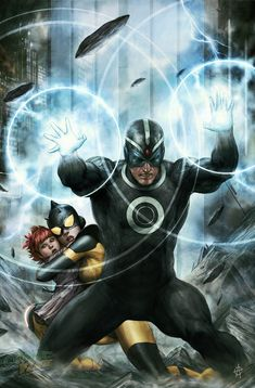 Havok and Wasp by Agustin Alessio