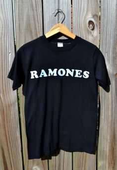 2562ad6bfde Vintage 80s Black Ramones Tshirt with concert ticket stub