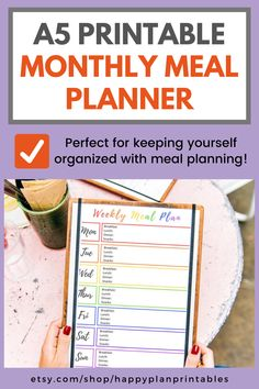 Grab my weekly meal planning pdf and print it out for stress-free meal times. #printablemealplanner #mealplannerprintable #weeklymealplanningprintable Monthly Meal Planner, Meal Planner Printable, Getting Rid Of Bloating, Getting Organized At Home, Positive Mental Health, Gut Health, Meals For The Week, Herbal Remedies, How To Relieve Stress