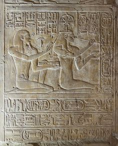 Abydos, Temple of Seti I | Chapel of Isis, outer doorjamb. T… | Flickr
