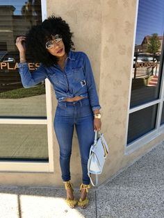 63 Cute Girly Outfit Ideas For Spring - Trendfashionist Girly Outfits, Chic Outfits, Summer Outfits, Fall Outfits, Fashion Outfits, Womens Fashion, Fashion Tips, Black Girl Fashion, Denim Fashion