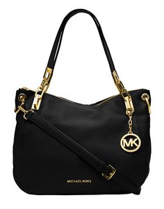 Brooke Leather Shoulder Tote Bag | Micheal Kors