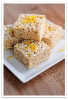 Lemonade Rice Krispies Treats  ~  Pool parties, campfires, picnics, long strolls on the beach, fishing, catching fireflies.