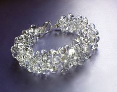 Glass Cluster Necklace by GillRogers on Etsy