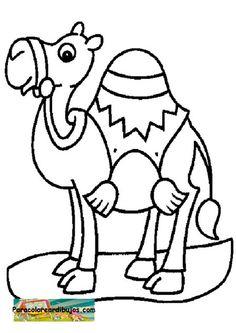Para colorear dibujos de camello