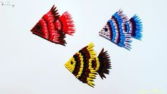 How to make 3d origami fish 5