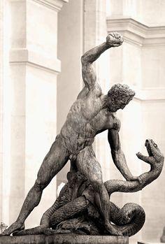 Heracles and Achelous by François-Joseph Bosio, Louvre Museum, Paris October Louvre Museum, Ancient Greek Sculpture, Art Sculpture, Bronze Sculpture, Art Of Man, Marble Art, Ancient Mysteries, Chef D Oeuvre, Effigy