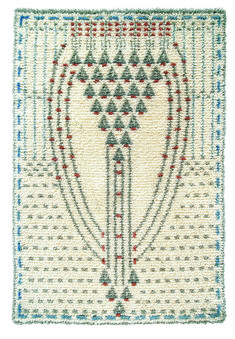 Eva Mannerheim-Sparre woven ryijy cloth rug from wool & linen. Size 110 cm x 160 cm. Rya Rug, Wool Rug, Art Textile, Textile Patterns, Art Nouveau, Scandinavian Embroidery, Applique Quilts, Rug Hooking, Handmade Crafts