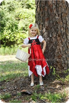 Little Red Riding Hood Costume with hooded Cape