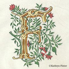 incredible illuminated letters by kathryn finter