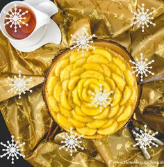 Winterliche Apfel-Rosen-Torte http://www.geschmacks-sinn.de/?p=2567