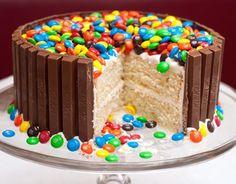 M&M Kit-Kat Cake