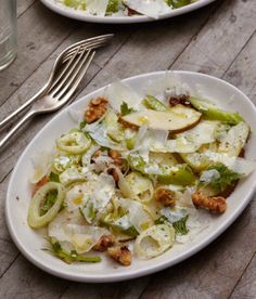 This dish of celery fennel and pear from @frannysbk is the perfect salad for a crisp fall night. by artisan_books