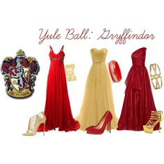 Gryffindor ball dresses fine i'll make a harry potter board Mode Harry Potter, Harry Potter Dress, Theme Harry Potter, Harry Potter Style, Harry Potter Wedding, Harry Potter Outfits, Ball Dresses, Ball Gowns, Prom Gowns