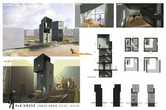 Tadao Andao 4x4 house rendering by Wes Strain