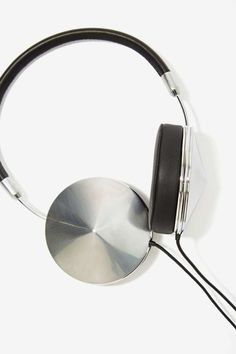 Taylor Leather Headphones in Silver / by Frends